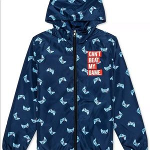 Jem Big Boys Can't Be Beat Hooded Jacket Navy NWOT